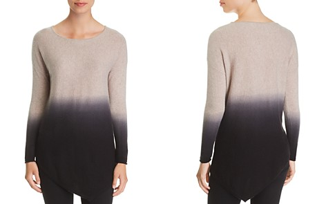 C by Bloomingdale's Asymmetric Dip-Dye Cashmere Sweater _2