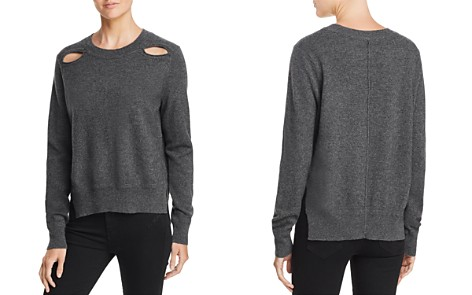 AQUA Cashmere Cutout High/Low Cashmere Sweater - 100% Exclusive - Bloomingdale's_2