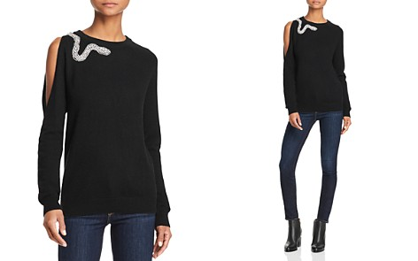 AQUA Cashmere Snake Cutout Cashmere Sweater - 100% Exclusive - Bloomingdale's_2
