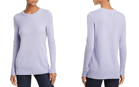 AQUA Cashmere Fitted Cashmere Crewneck Sweater - 100% Exclusive - Bloomingdale's_2