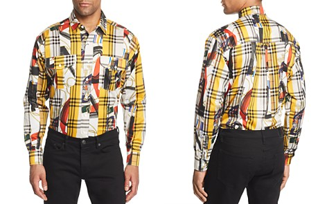 Burberry Chester Mixed-Print Plaid Regular Fit Button-Down Shirt - Bloomingdale's_2