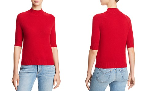 AQUA Cashmere Mock-Neck Cashmere Sweater - 100% Exclusive - Bloomingdale's_2