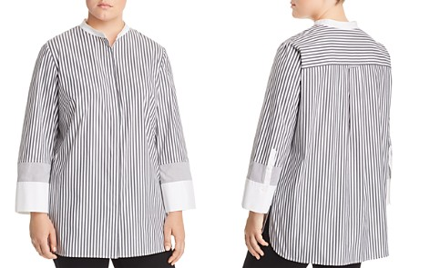 Lafayette 148 New York Plus Marianne Striped Button-Down Blouse - Bloomingdale's_2