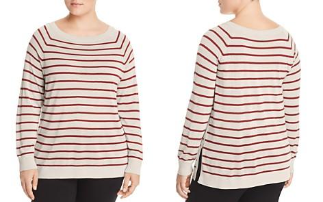 Lafayette 148 New York Plus Raglan Stripe Sweater - Bloomingdale's_2