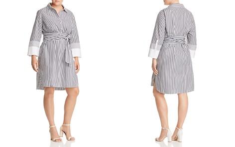 Lafayette 148 New York Plus Fabiola Striped Shirt Dress - Bloomingdale's_2