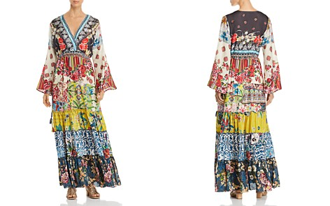 Johnny Was Dibble Mixed-Print Tiered Maxi Dress - Bloomingdale's_2