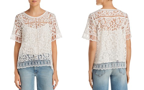 FRENCH CONNECTION Arta Lace & Openwork Top - Bloomingdale's_2