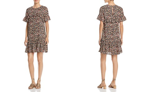 Alison Andrews Micro Floral Ruffle Dress - Bloomingdale's_2