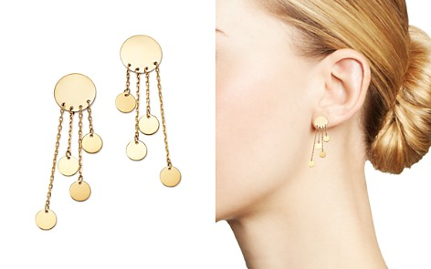 Moon & Meadow Graduated Multi Disc Drop Earrings in 14K Yellow Gold - 100% Exclusive - Bloomingdale's_2