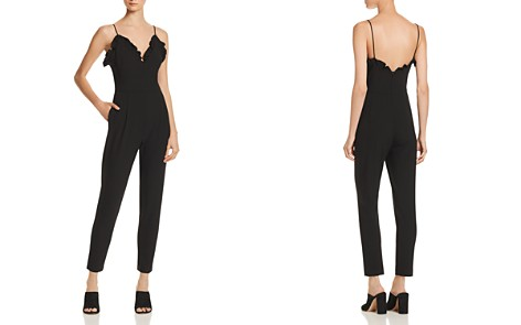 Black Halo Biscayne Ruffle-Trimmed Jumpsuit - Bloomingdale's_2