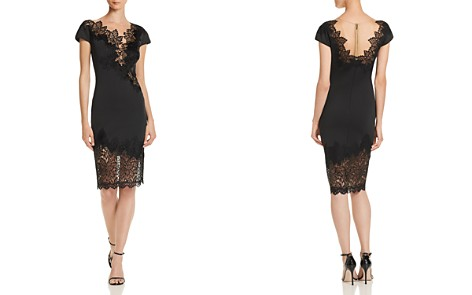 Tadashi Shoji Petites Lace-Inset Neoprene Dress - 100% Exclusive - Bloomingdale's_2