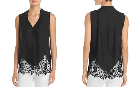 T Tahari Daria Sleeveless Lace-Trim Top - 100% Exclusive - Bloomingdale's_2