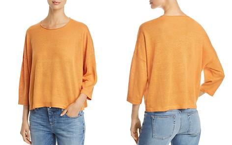 Eileen Fisher Drop Shoulder Linen Top - Bloomingdale's_2