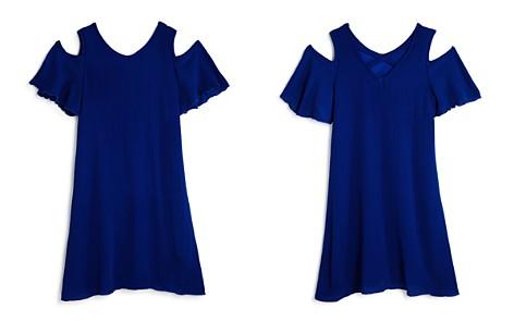 AQUA Girls' Cold-Shoulder Crisscross-Back Chiffon Dress, Big Kid - 100% Exclusive - Bloomingdale's_2