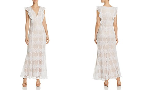 AQUA Flutter-Sleeve Lace Maxi Dress - 100% Exclusive - Bloomingdale's_2