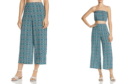 AQUA Tapestry-Print Wide-Leg Pants - 100% Exclusive - Bloomingdale's_2