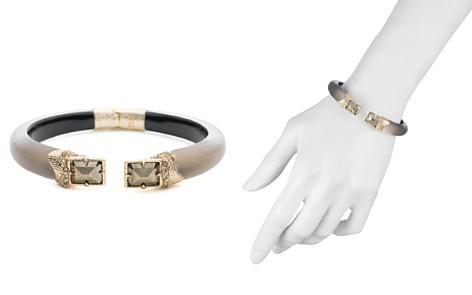 Alexis Bittar Crystal Gray Lucite Hinge Bracelet - Bloomingdale's_2