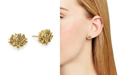 Alex and Ani Lotus Peace Petals Stud Earrings - Bloomingdale's_2