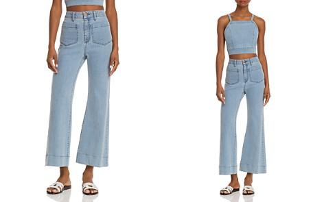 Show Me Your MuMu Farrah Cropped Wide Leg Jeans in Cascade - Bloomingdale's_2