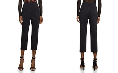 BCBGMAXAZRIA Pleated Crop Pants - Bloomingdale's_2