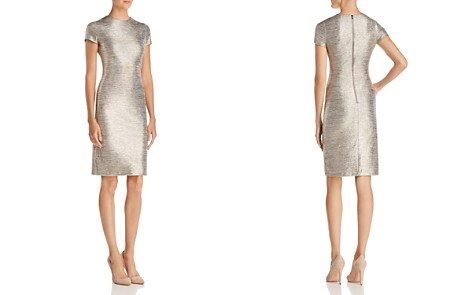 Alice + Olivia Delora Metallic Sheath Dress - Bloomingdale's_2