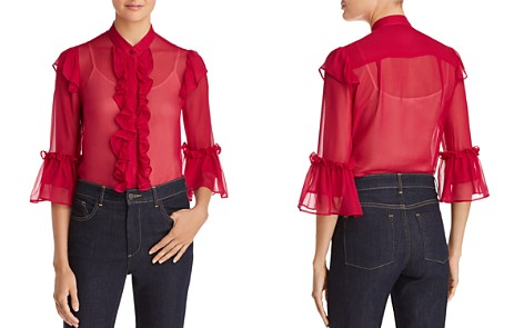 Alice + Olivia Odele Ruffled Silk Blouse - Bloomingdale's_2