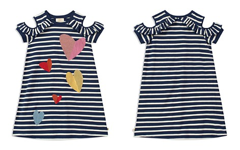 kate spade new york Girls' Foil & Glitter Hearts Striped Cold-Shoulder Dress - Big Kid - Bloomingdale's_2