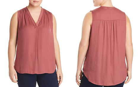 VINCE CAMUTO Plus Shirred Satin Top - Bloomingdale's_2
