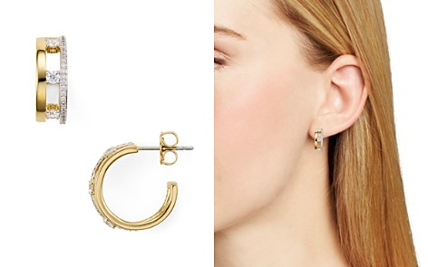 Nadri Trio Pavé Huggie Hoop Earrings - Bloomingdale's_2