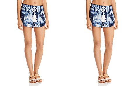 Surf Gypsy Tie-Dyed Tassel Swim Cover-Up Shorts - Bloomingdale's_2