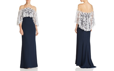 Tadashi Shoji Illusion Capelet Gown - Bloomingdale's_2