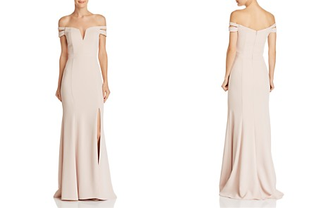 AQUA Off-the-Shoulder Double-Strap Gown - 100% Exclusive - Bloomingdale's_2