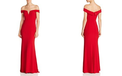AQUA Off-the-Shoulder V-Neck Gown - 100% Exclusive - Bloomingdale's_2