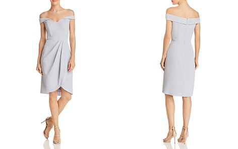 AQUA Off-the-Shoulder Pleat-Detail Dress - 100% Exclusive - Bloomingdale's_2