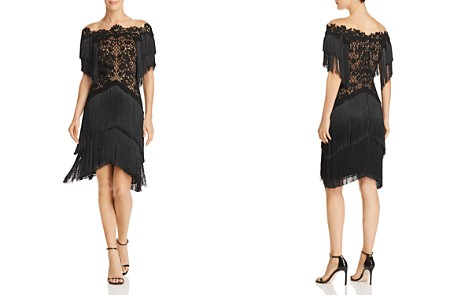 Tadashi Shoji Illusion Embroidered Fringe Dress - Bloomingdale's_2