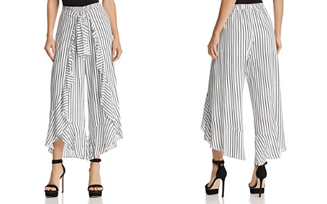 AQUA Ruffled Striped Tie-Front Pants - 100% Exclusive - Bloomingdale's_2