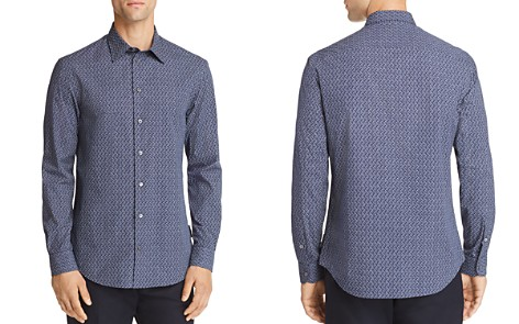 Emporio Armani Woven Print Regular Fit Button-Down Shirt - Bloomingdale's_2