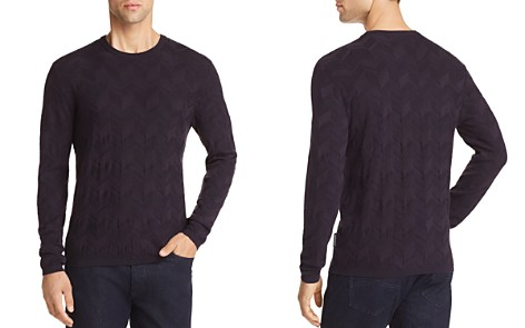 Emporio Armani Chevron Textured Sweater - Bloomingdale's_2