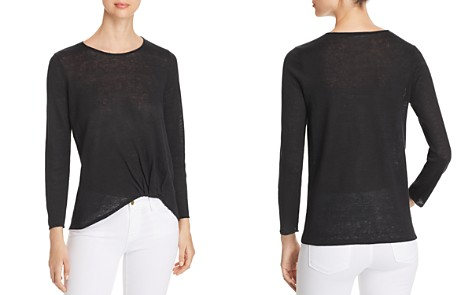 Eileen Fisher Organic Linen Twist Top - Bloomingdale's_2