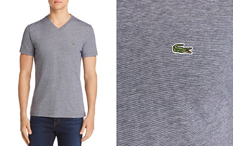Lacoste Striped V-Neck Tee - Bloomingdale's_2