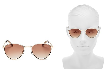 Le Specs Women's Hot Stuff Gradient Round Sunglasses, 52mm - Bloomingdale's_2