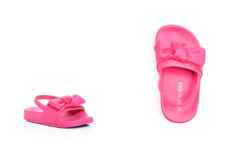 Steve Madden Girls' Silk Slingback Pool Slide Sandals - Toddler - Bloomingdale's_2