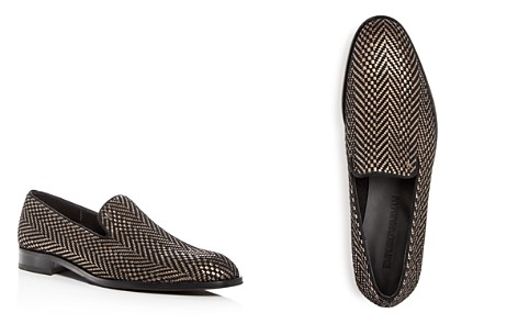 Armani Men's Woven Smoking Slippers - Bloomingdale's_2