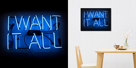 """Oliver Gal I Want It All Neon Art, 17"""" x 11"""" - Bloomingdale's_2"""