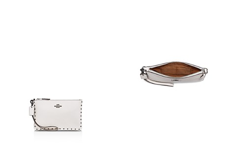 COACH Border Rivets Small Polished Pebble Leather Wristlet - Bloomingdale's_2