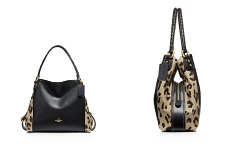 COACH Edie 31 Rivet Leopard Print Leather Block Satchel - Bloomingdale's_2