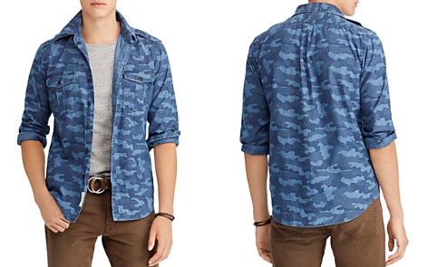 Polo Ralph Lauren Polo Camouflage Indigo Chambray Classic Fit Workshirt - Bloomingdale's_2