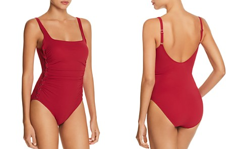 Profile by Gottex Moto Square Neck One Piece Swimsuit - Bloomingdale's_2