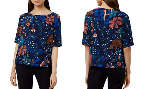 HOBBS LONDON Dahlia Botanical Print Top - Bloomingdale's_2