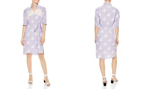 Sandro Soleil Striped Embroidered Bee-Motif Dress - Bloomingdale's_2